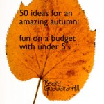 My first ever e-book! 50 ideas for an Amazing Autumn