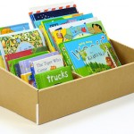 Big book little book cardboard box – a bookcase for toddlers